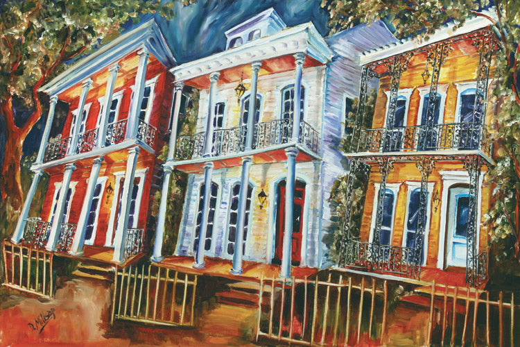 """Uptown Revival"" - New Orleans Art Print by Diane Millsap"