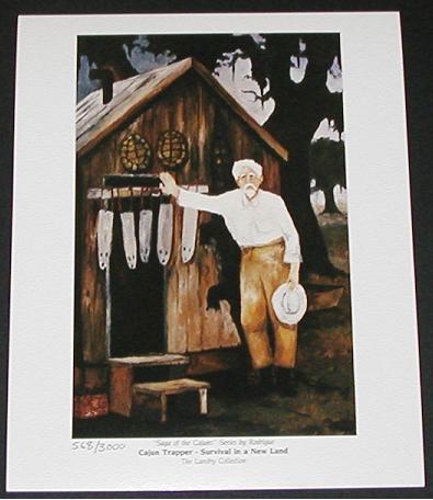 """Cajun Trapper"" Print, Numbered"