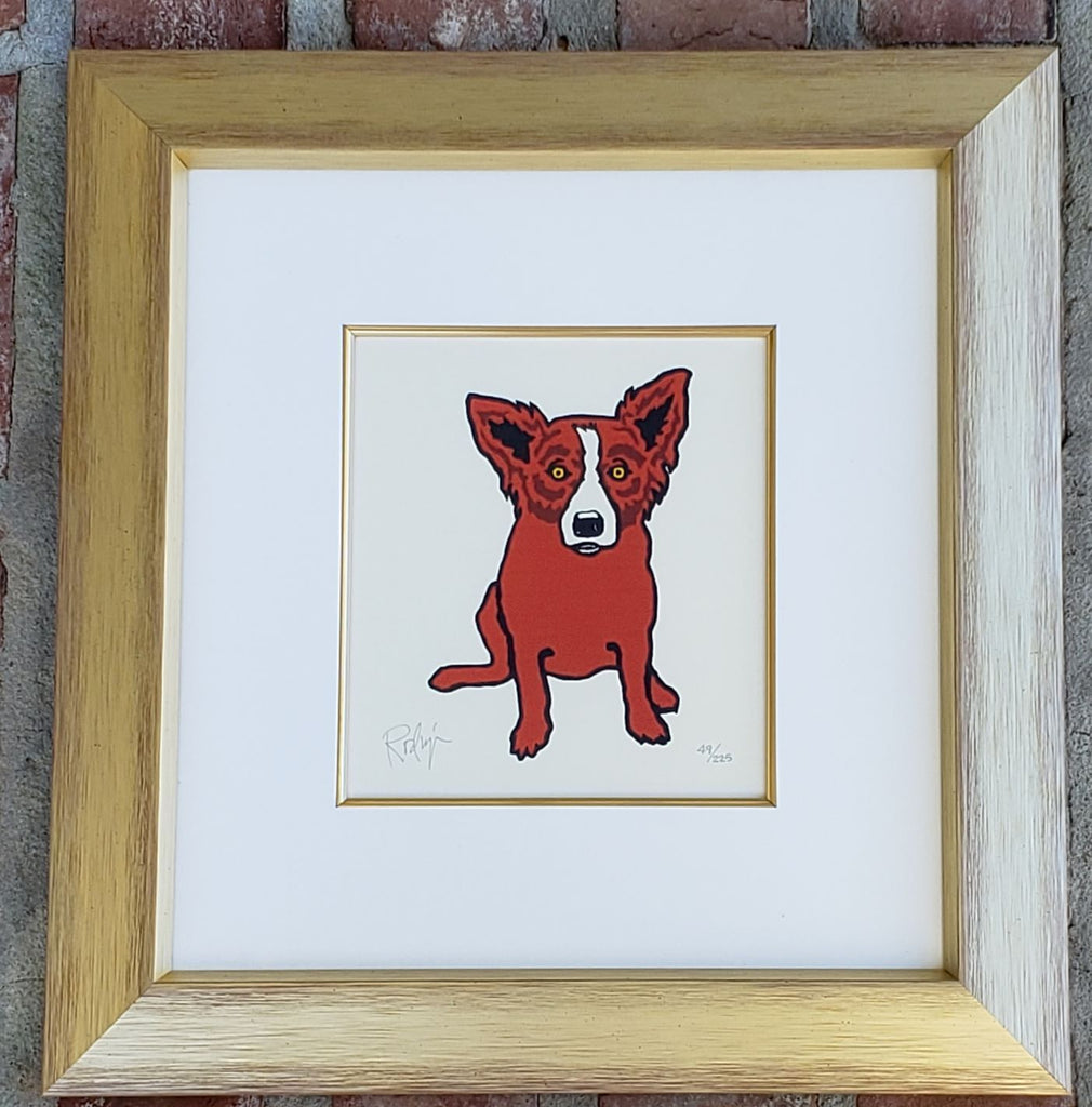 """Little Hot Shot"" Blue Dog Silkscreen By George Rodrigue"