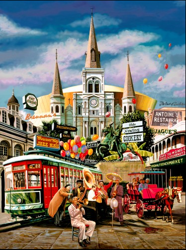 """New Orleans Jazz"" Fine Art Print Giclee by Brad Thompson"