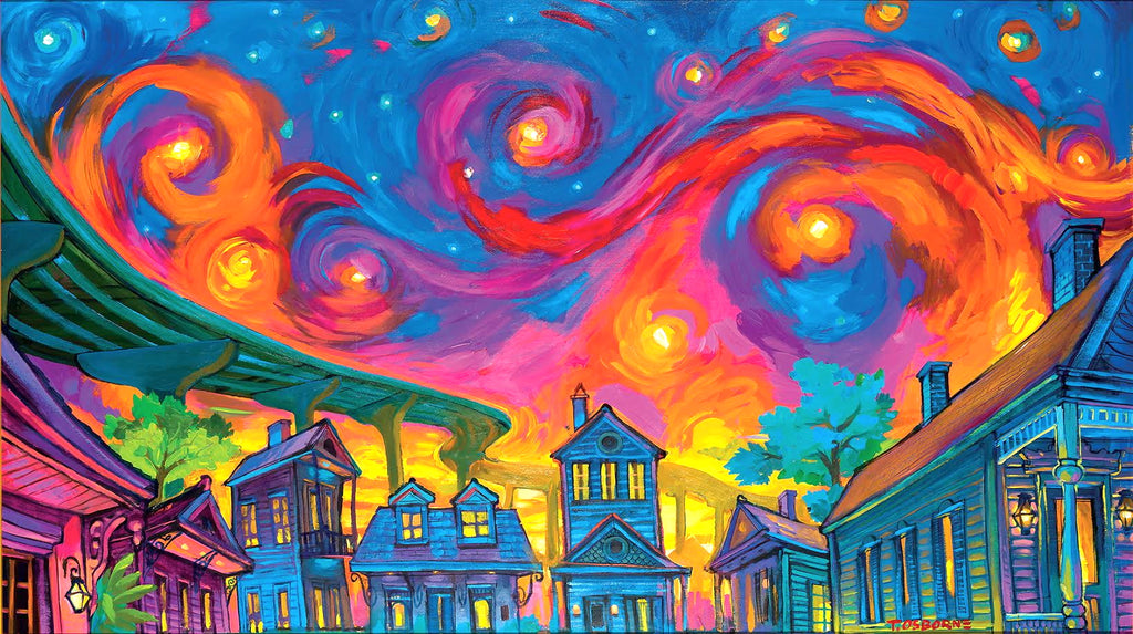 """Starry Nola"" New Orleans Art by Terrance Osborne"