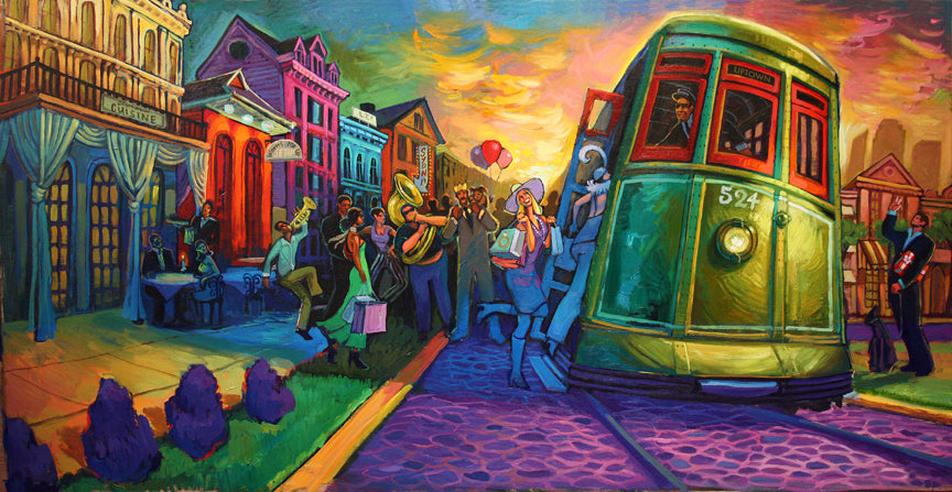 """Uptown Bound"" New Orleans Art by Terrance Osborne"