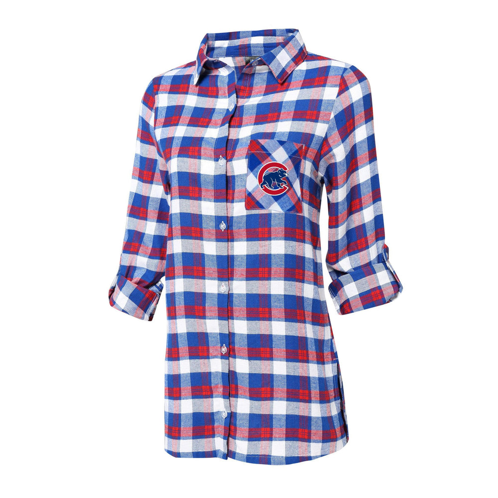 PIEDMONT WOMEN'S CHICAGO CUBS LONG SLEEVE BUTTON DOWN - Ivy Shop
