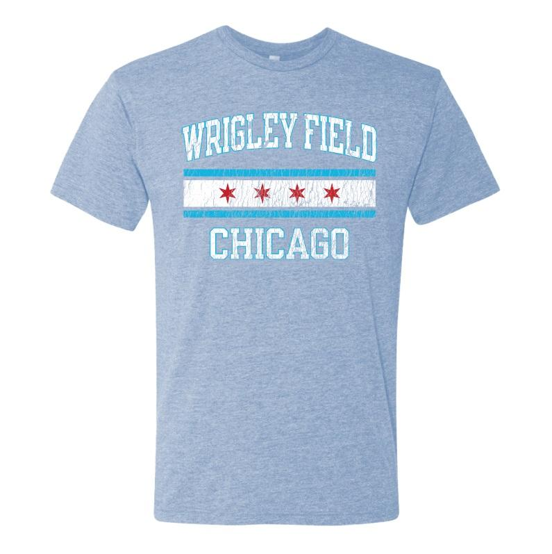 CHICAGO FLAG WRIGLEY FIELD TEE