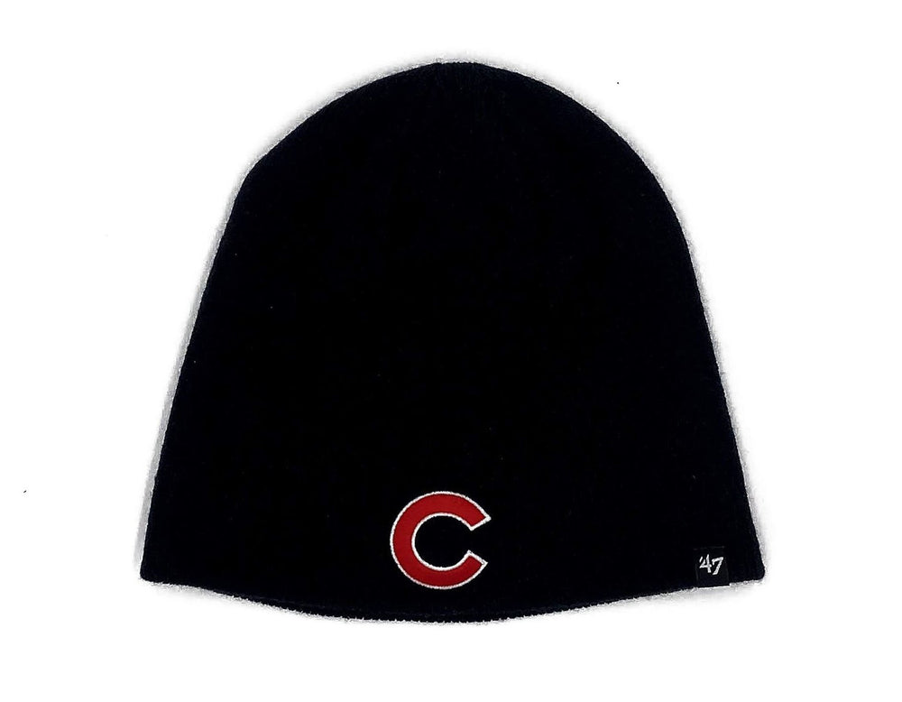 CHICAGO CUBS NAVY C KNIT BEANIE - Ivy Shop