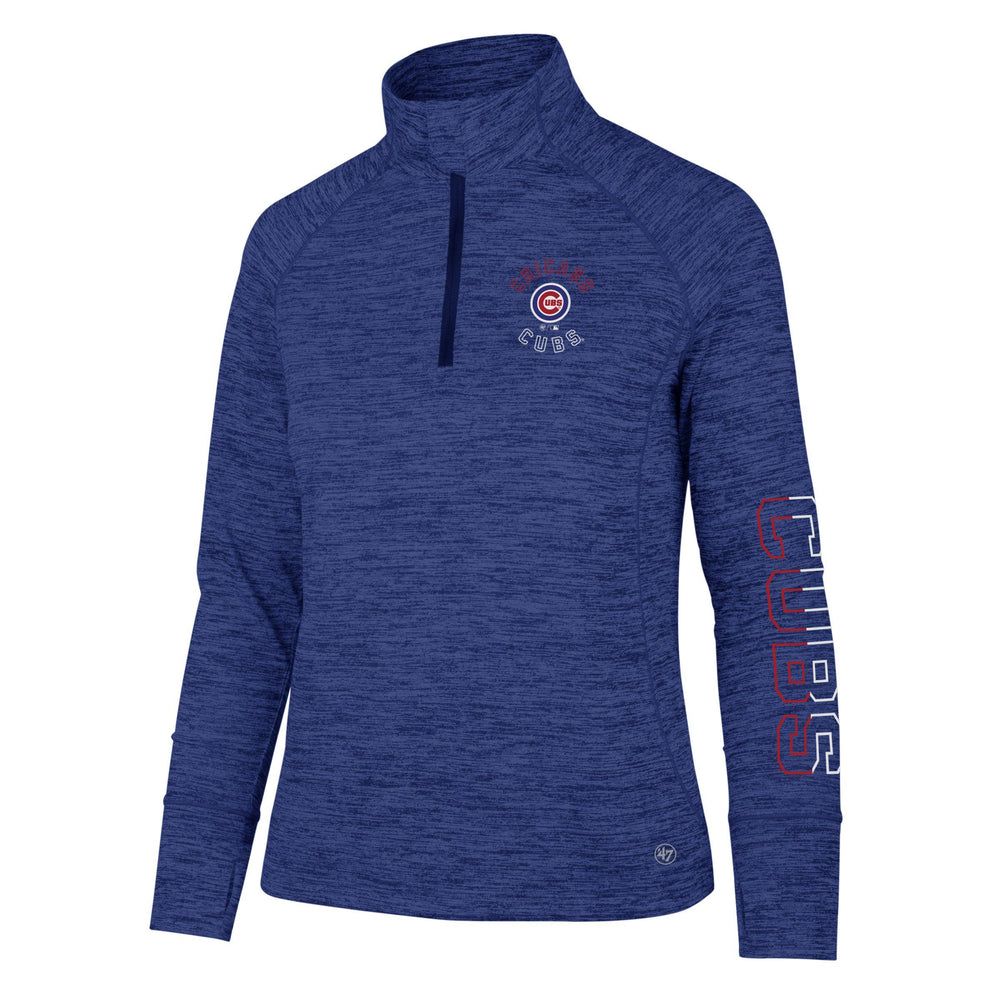 CHICAGO CUBS WOMEN'S IMPACT 1/4 ZIP PULLOVER