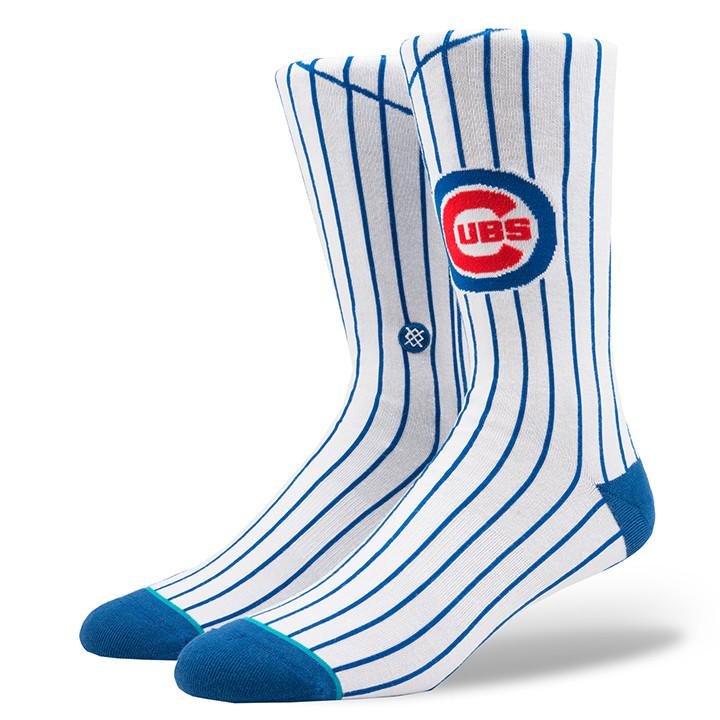 HOME PINSTRIPE CHICAGO CUBS SOCKS