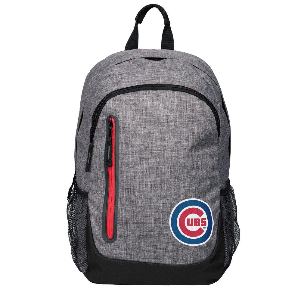 CHICAGO CUBS BOLD HEATHER GRAY BACKPACK