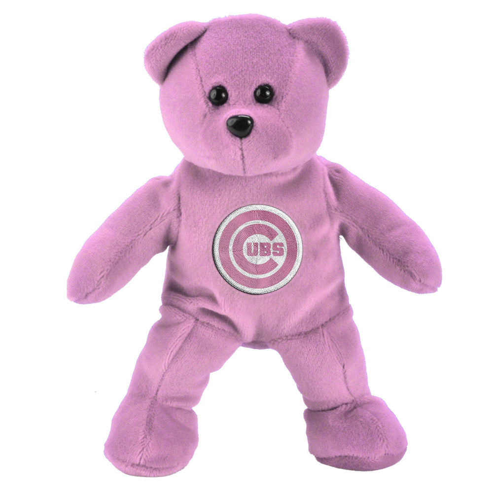 CHICAGO CUBS PINK BEANBAG BEAR