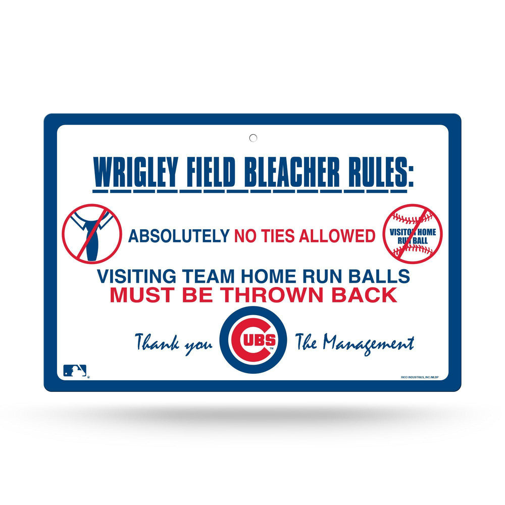 WRIGLEY FIELD BLEACHER RULES SIGN