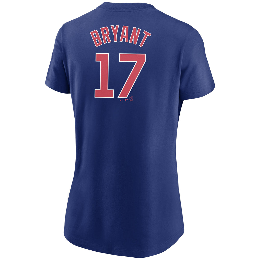 KRIS BRYANT WOMEN'S CHICAGO CUBS NAME AND NUMBER TEE