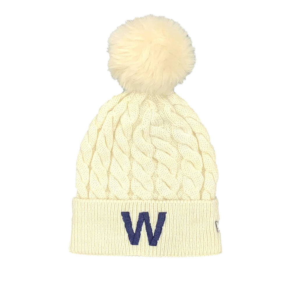 W CAPSULE COLLECTION WOMENS CABLE KNIT BEANIE
