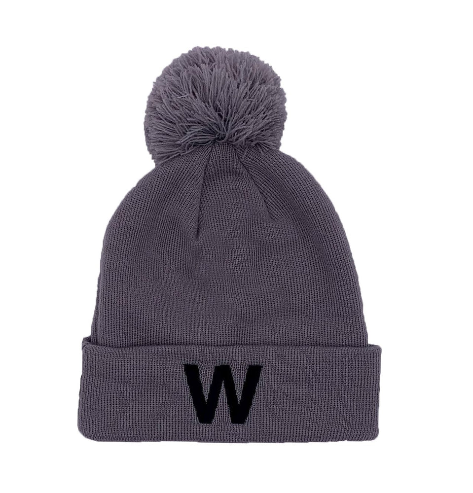 W CAPSULE COLLECTION GRAY KNIT BEANIE