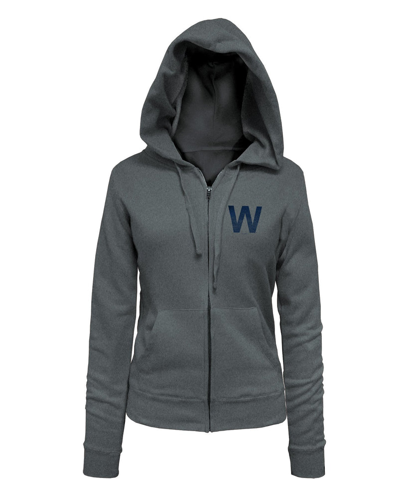 W CAPSULE COLLECTION WOMENS GRAY ZIP HOODIE