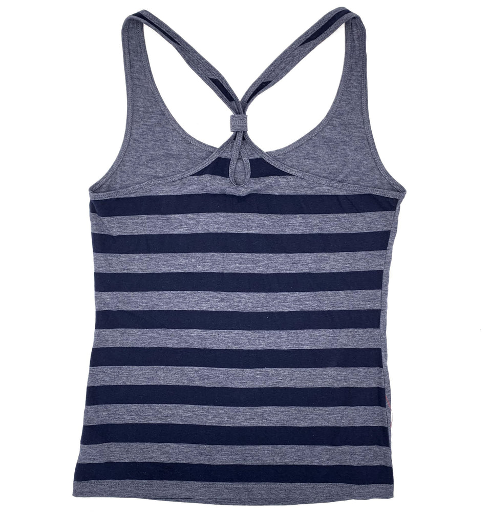 STRIPED KNOT BACK GIRL'S CHICAGO CUBS TANK TOP - Ivy Shop