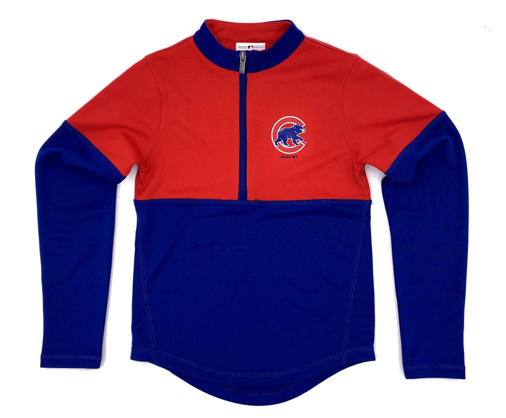LATE INNING GIRL'S CHICAGO CUBS HALF ZIP PULLOVER