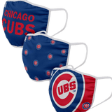3-PACK ADULT CLOTH CHICAGO CUBS FACE COVERING - Ivy Shop
