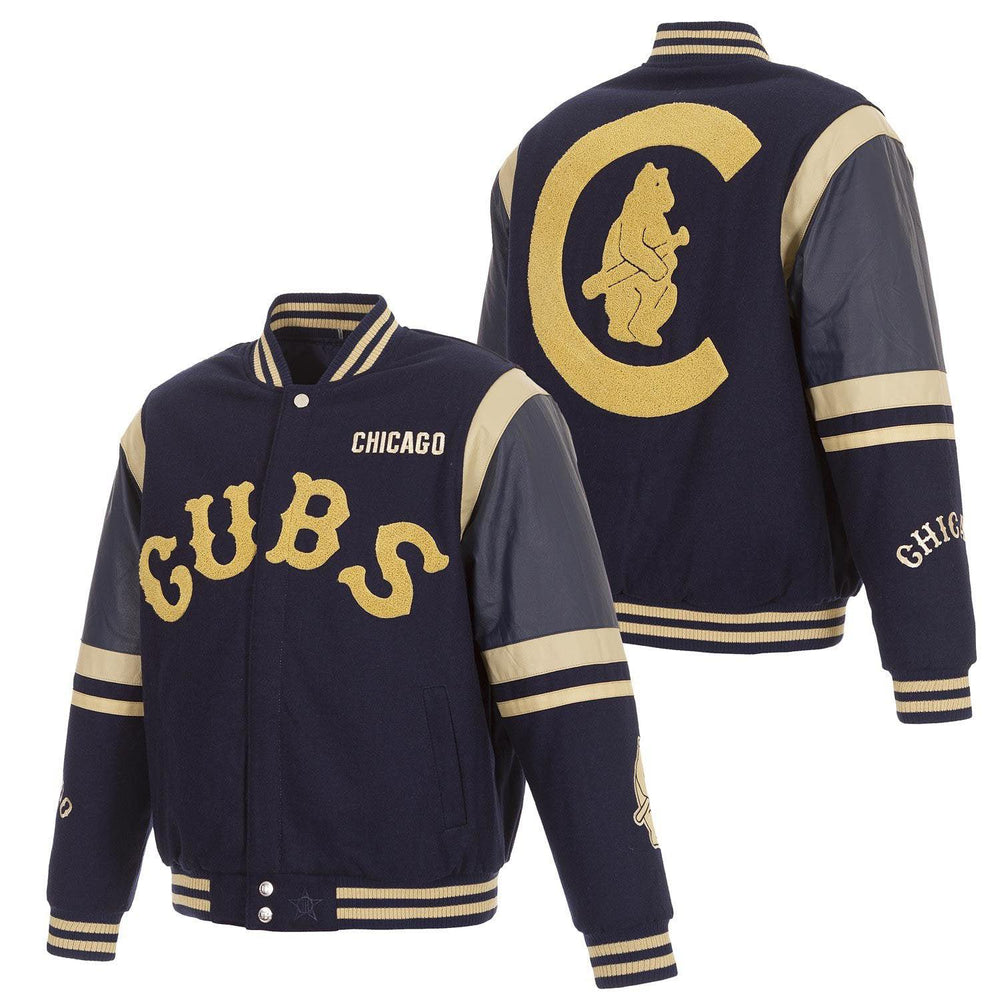 1914 FULL SNAP CHICAGO CUBS LETTERMAN JACKET - Ivy Shop