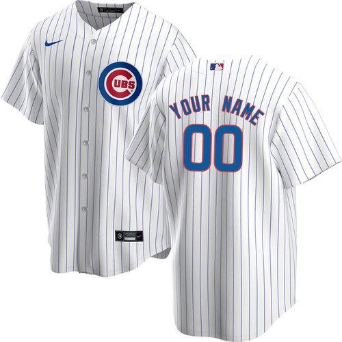 CUSTOM CHICAGO CUBS MEN'S REPLICA HOME JERSEY
