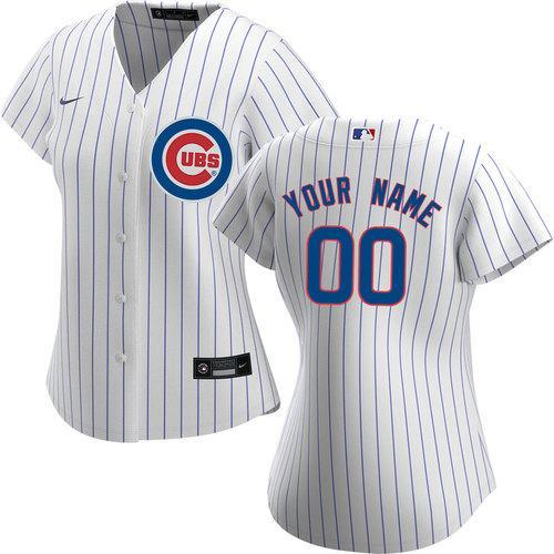 CUSTOM CHICAGO CUBS WOMEN'S REPLICA HOME JERSEY
