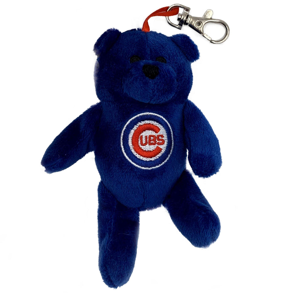 BLUE PLUSH BEAR CHICAGO CUBS KEYCHAIN