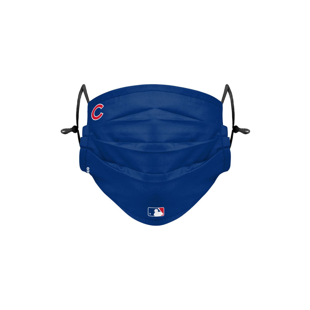 AUTHENTIC PLEATED ON-FIELD CHICAGO CUBS MASK