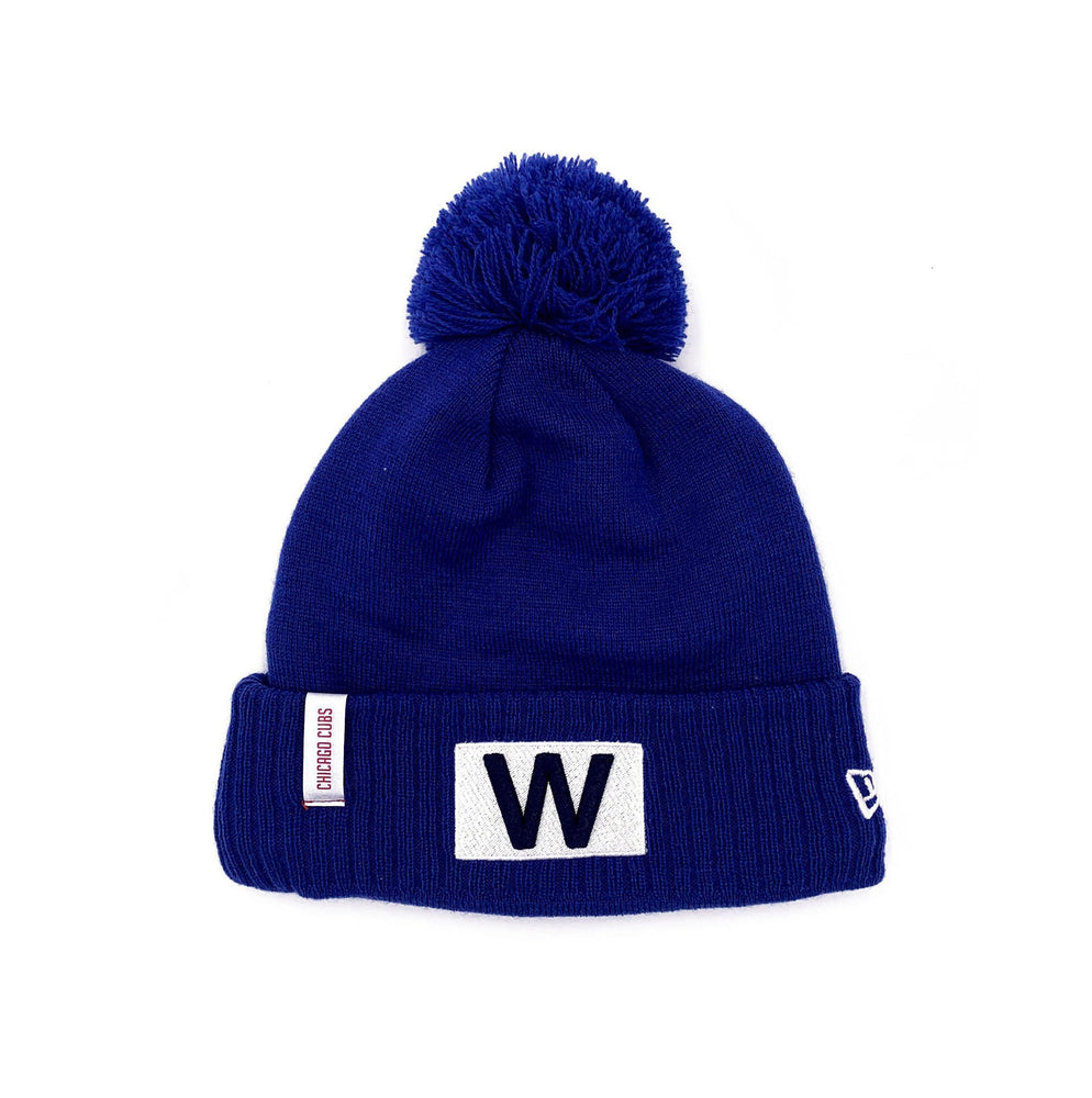 WALKING BEAR & W FLAG WOMEN'S CHICAGO CUBS KNIT BEANIE - Ivy Shop