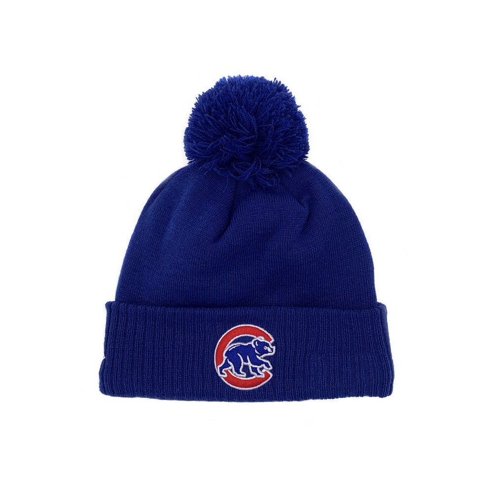 CHICAGO CUBS WOMEN'S W FLAG KNIT BEANIE