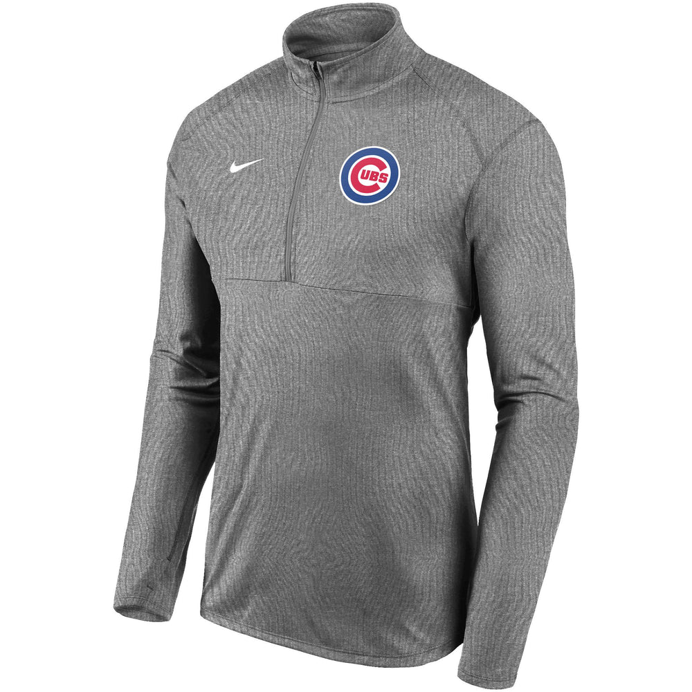 ELEMENT GRAY PERFORMANCE CHICAGO CUBS HALF ZIP PULLOVER