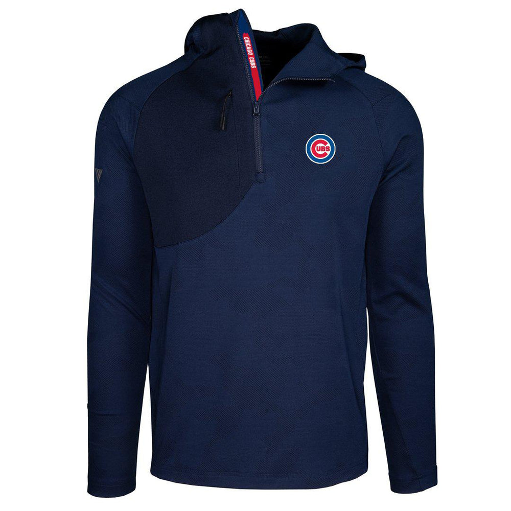 THE FUZE CHICAGO CUBS HALF ZIP HOODIE