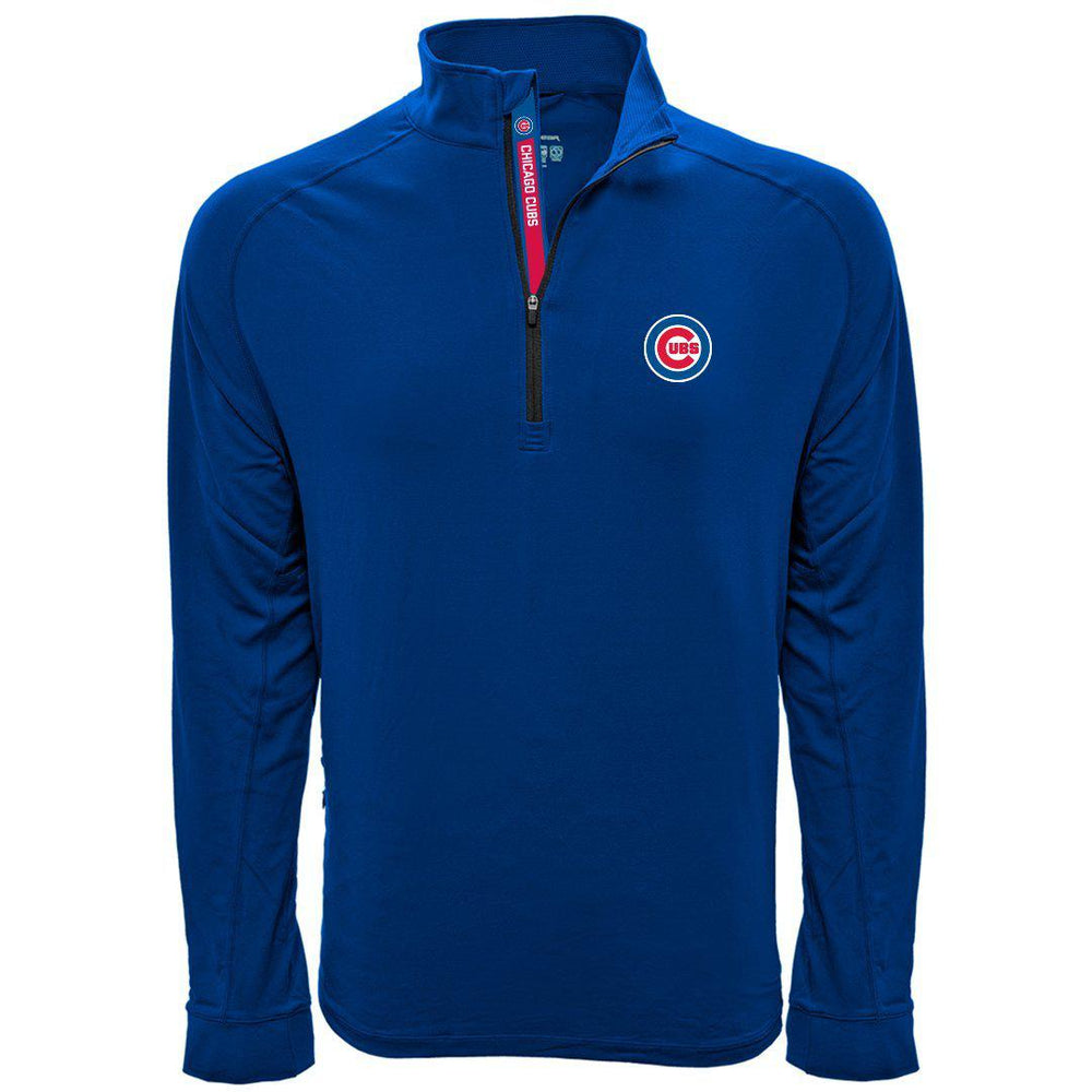 PEAK CHICAGO CUBS HALF ZIP PULLOVER
