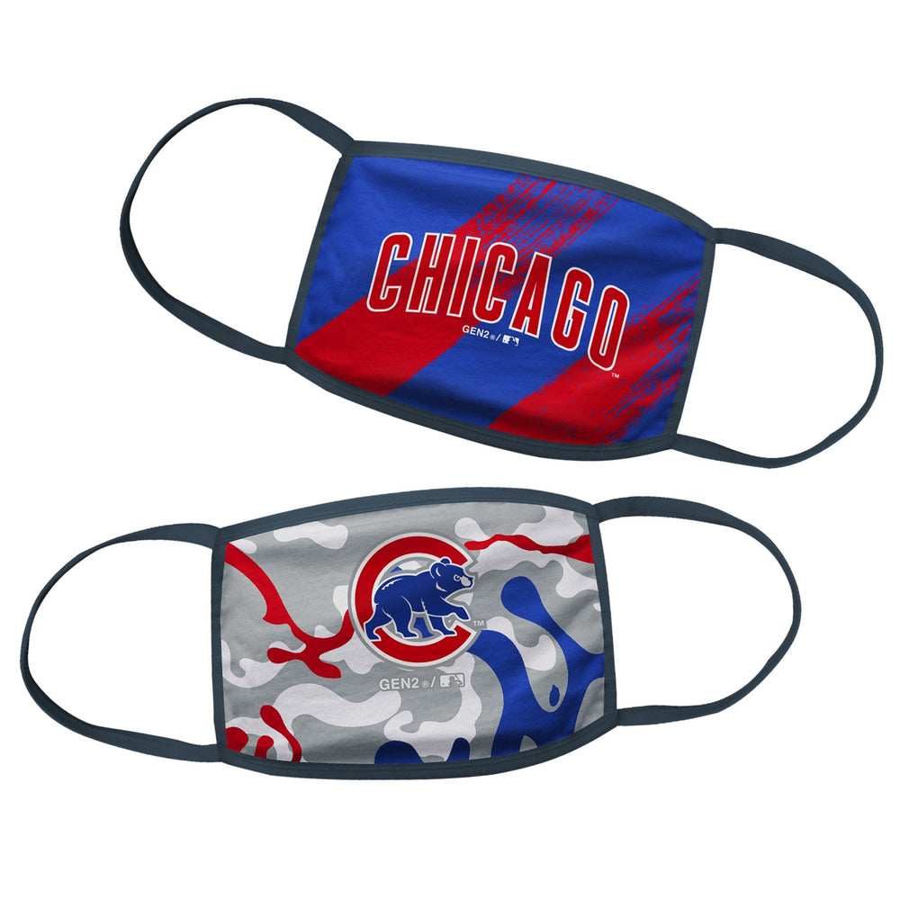 2-PACK KIDS CLOTH CHICAGO CUBS FACE COVERING