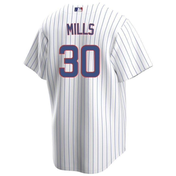 REPLICA CHICAGO CUBS ALEC MILLS JERSEY - HOME - Ivy Shop