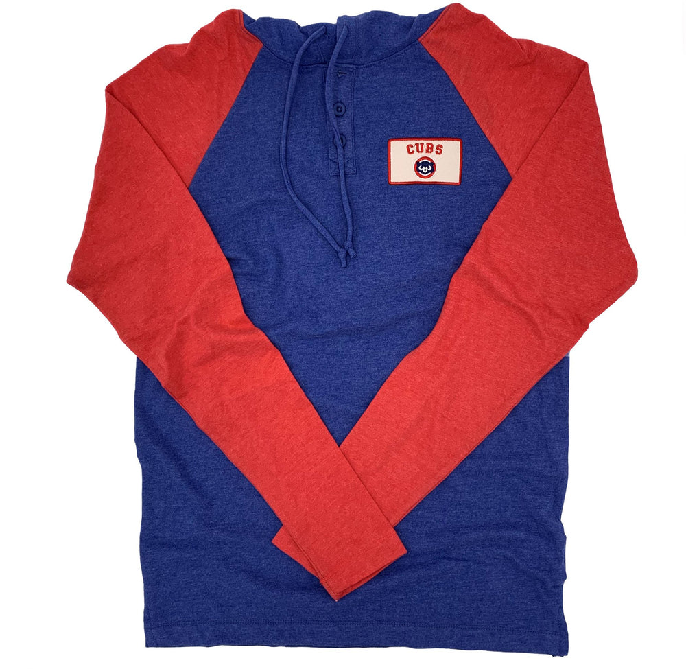 CHICAGO CUBS 1984 BEAR HOODED HENLEY