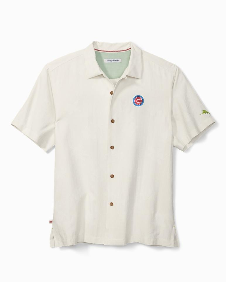 CHICAGO CUBS OUT OF THE PARK SILK CAMP SHIRT