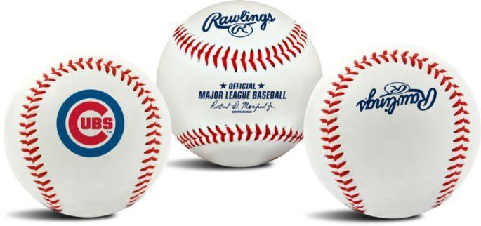 CHICAGO CUBS LOGO RAWLINGS BASEBALL