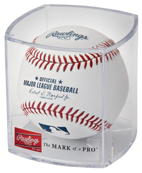 RAWLINGS OFFICIAL MLB BASEBALL WITH DISPLAY CUBE