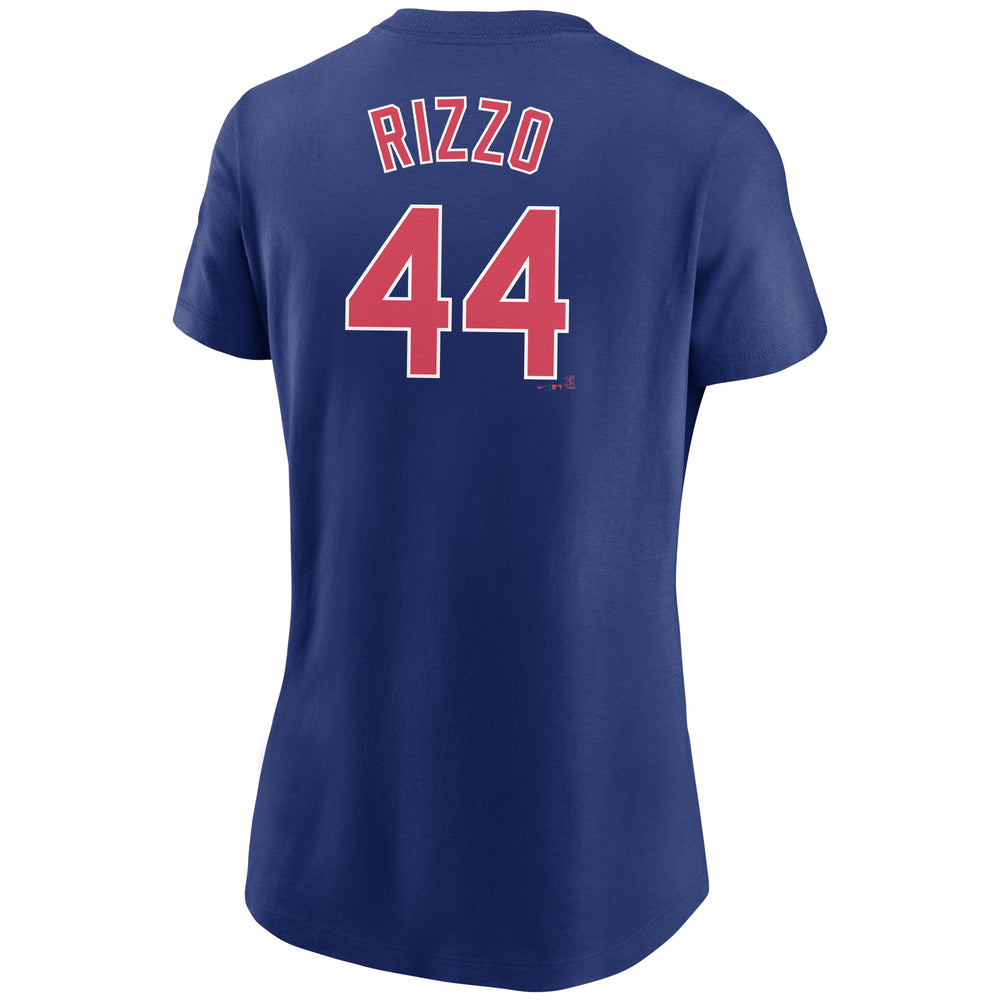 ANTHONY RIZZO WOMEN'S CHICAGO CUBS NAME AND NUMBER TEE - Ivy Shop