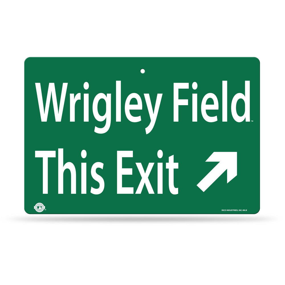 WRIGLEY FIELD STREET EXIT SIGN