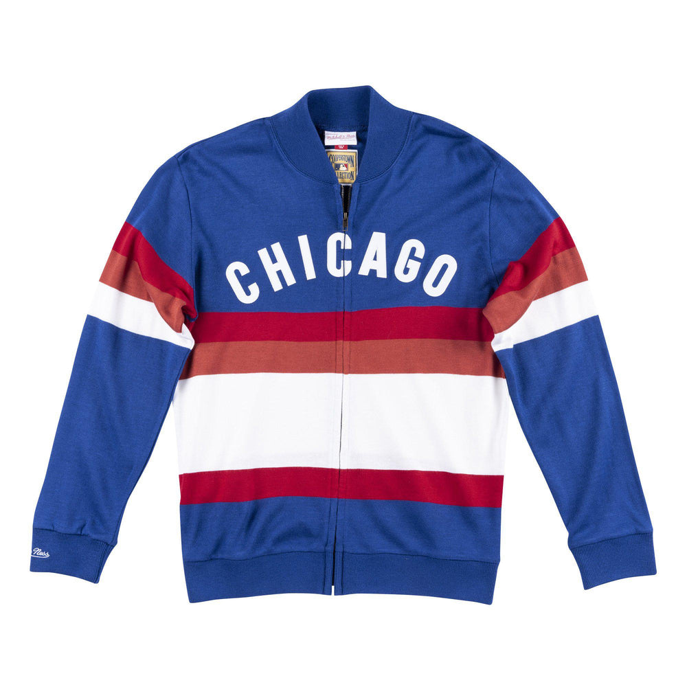 RETRO BLOCK STRIPE CHICAGO CUBS SWEATER