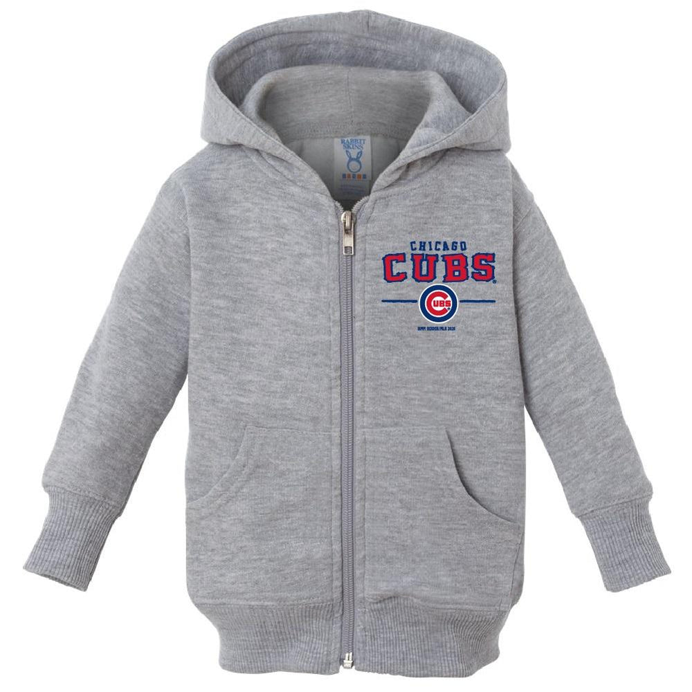 CHICAGO CUBS KIDS STAINLESS ZIP HOOD