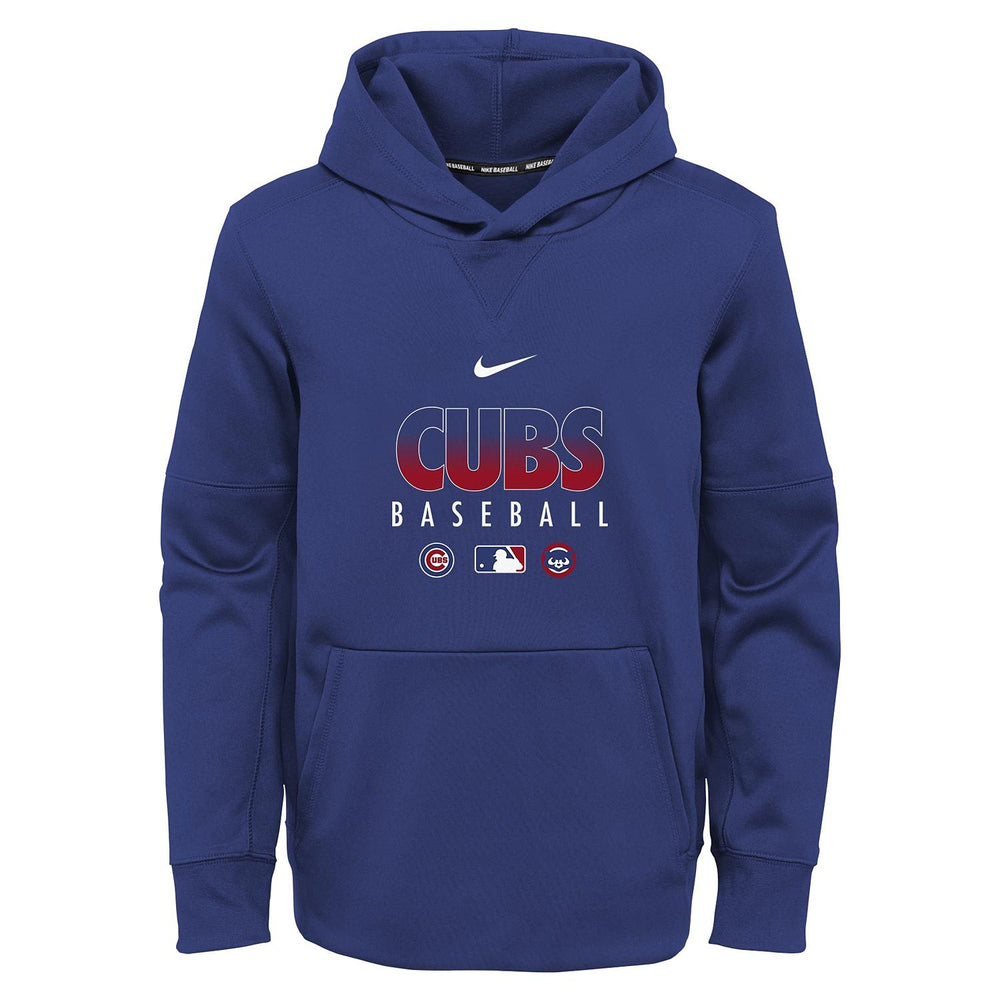 CHICAGO CUBS YOUTH AUTHENTIC COLLECTION NIKE THERMA HOODIE