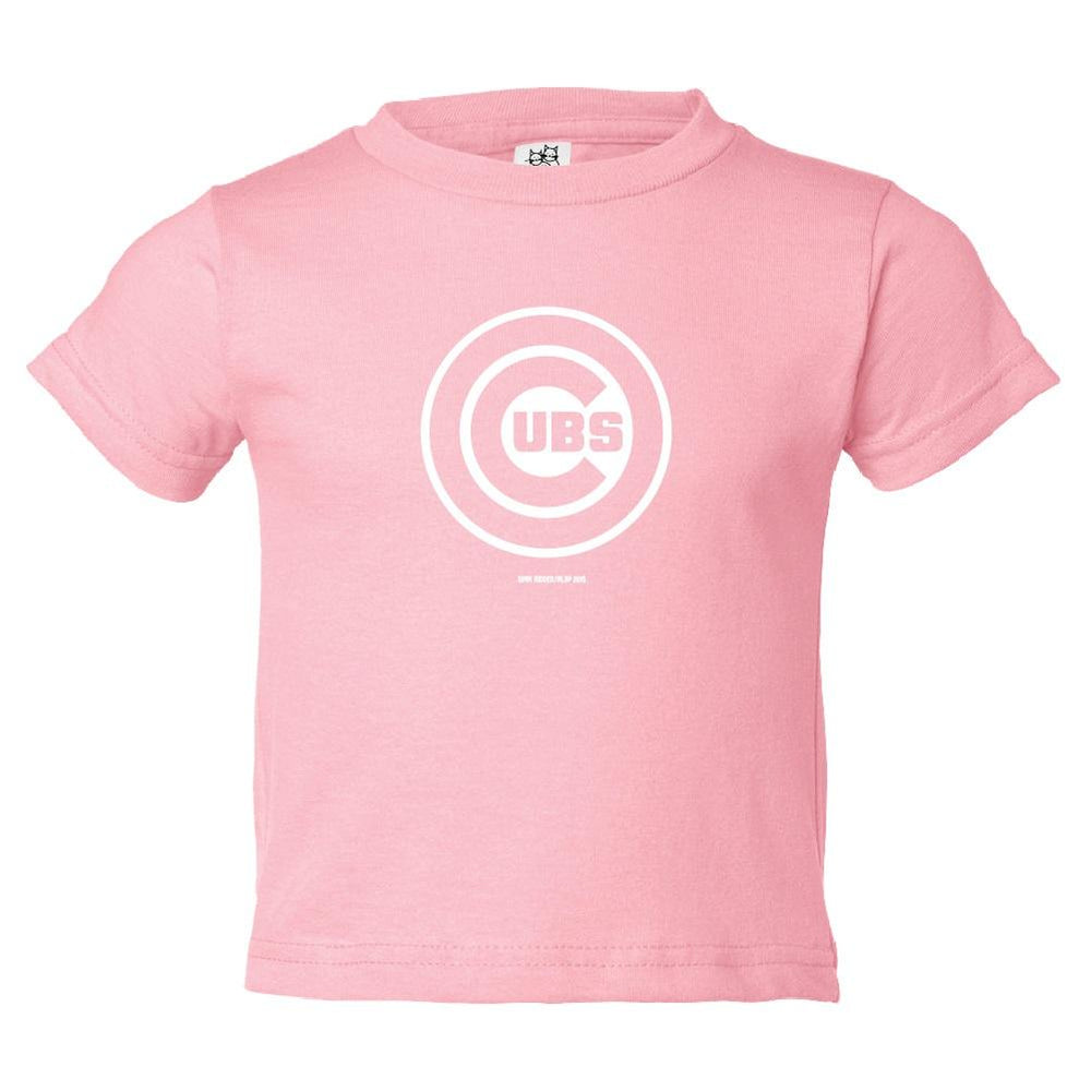PINK LOGO TODDLER CHICAGO CUBS TEE