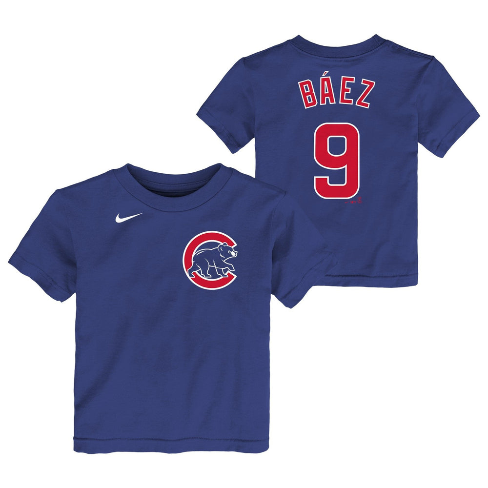 JAVIER BAEZ YOUTH CHICAGO CUBS NAME AND NUMBER TEE