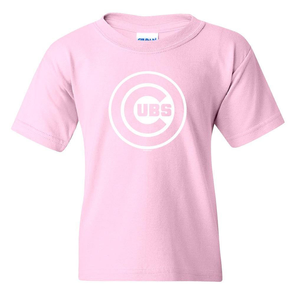 PINK LOGO YOUTH CHICAGO CUBS TEE