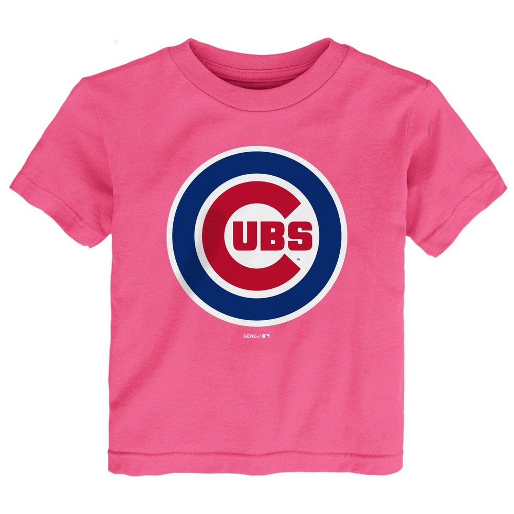 PINK LOGO KIDS CHICAGO CUBS TEE