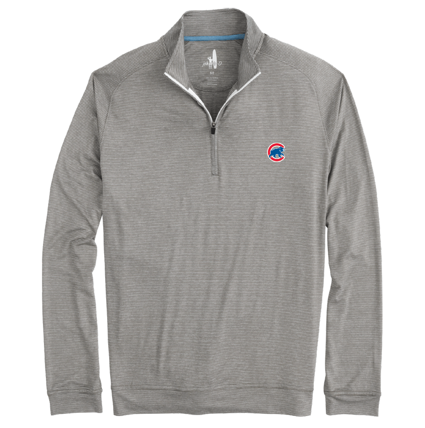 VAUGHN STRIPED PREP-FORMANCE CHICAGO CUBS HALF ZIP PULLOVER