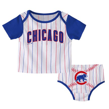 HEY BATTER CHICAGO CUBS DIAPER SET