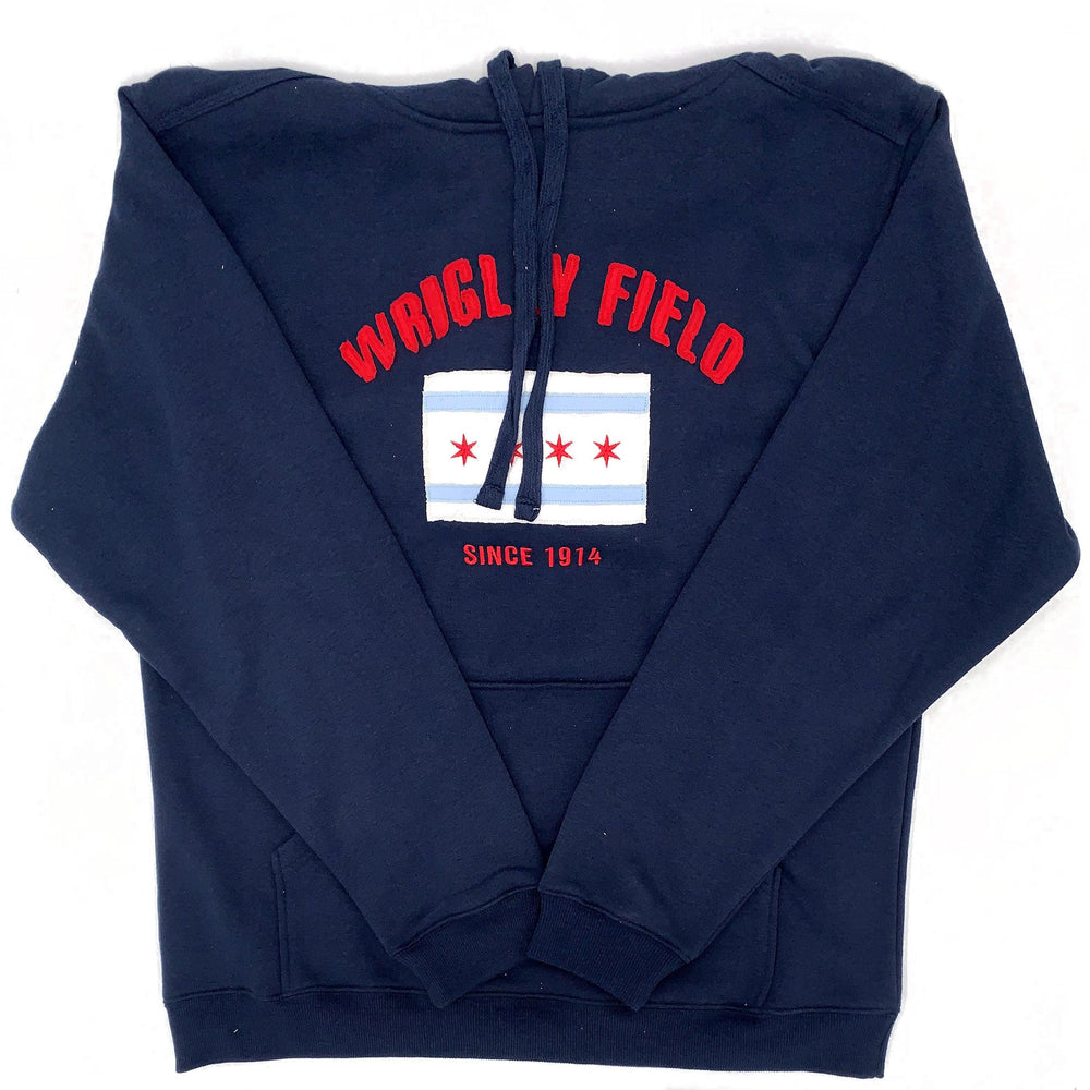WRIGLEY FIELD CHICAGO FLAG HOODIE