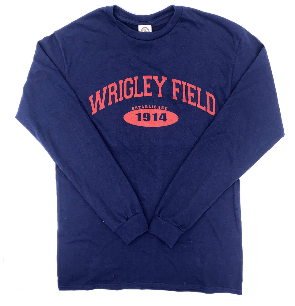 EST. 1914 NAVY WRIGLEY FIELD LONG SLEEVE TEE